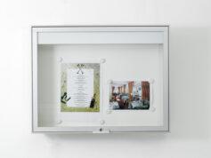 Wand informatiekast Morbidelli 100 4xA4 Buiten