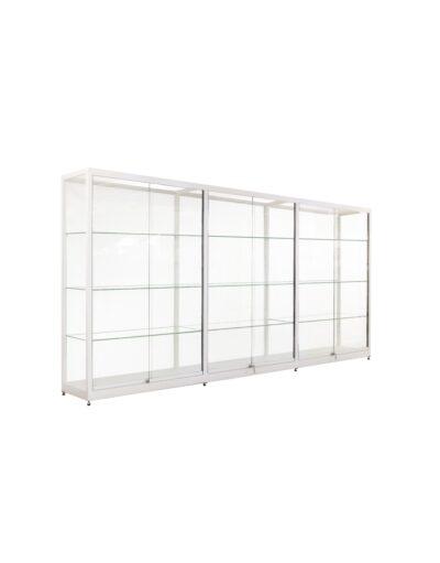 Doorbouw vitrinekast Thema-2952 zilver 1612
