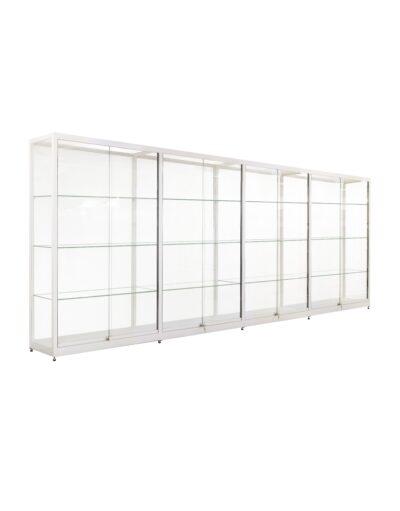 Doorbouw vitrinekast Thema-3928 zilver 1612