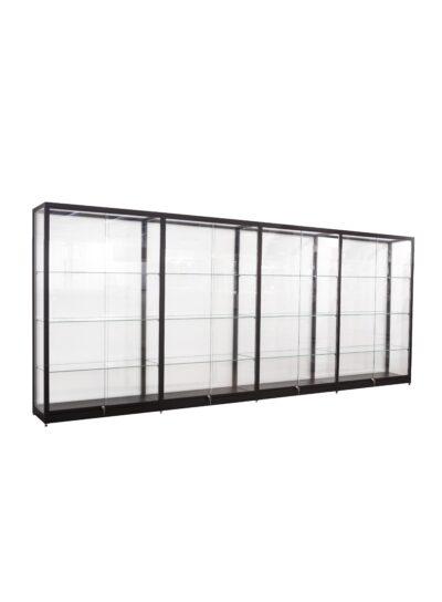 Doorbouw vitrinekast Thema-3928 zwart 1612